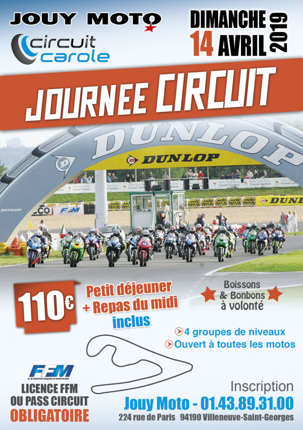 Journée au circuit Carole le 14 avril 2019